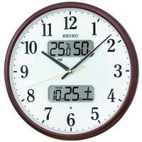 SEIKO(セイコークロック) 温度湿度カレンダー付き電波時計 KX383B 1個 (直送品)