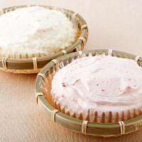 北海道・わらく堂 かご盛レアチーズケーキとかご盛苺みるくセット (直送品)