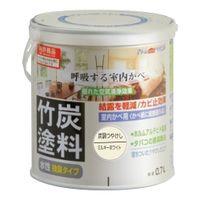 アトムサポート(アトムハウスペイント) 水性竹炭塗料 0.7L 炭調ミルキーホワイト 4971544128511(直送品)