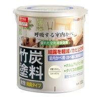 アトムサポート(アトムハウスペイント) 水性竹炭塗料 1.6L 炭調ミルキーホワイト 4971544128573 1缶(1600mL)(直送品)
