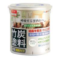 アトムサポート(アトムハウスペイント) 水性竹炭塗料 1.6L 炭調ミントホワイト 4971544128719 1缶(1600mL)(直送品)