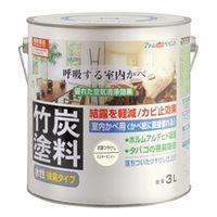 アトムサポート(アトムハウスペイント) 水性竹炭塗料 3L 炭調ミルキーホワイト 4971544128771 1缶(3000mL)(直送品)
