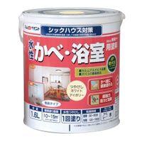 アトムサポート(アトムハウスペイント) 水性かべ・浴室用塗料 1.6L ホワイトアイボリー 4971544134062(直送品)