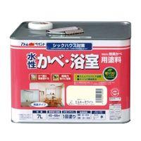 アトムサポート(アトムハウスペイント) 水性かべ・浴室用塗料 7L ミルキーホワイト 4971544135021 1缶(7000mL)(直送品)