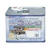アトムサポート(アトムハウスペイント) 凹凸外かべ用塗料 7L ミルキーホワイト 4971544158327 1缶(7000mL)(直送品)