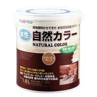 アトムサポート(アトムハウスペイント) 水性自然カラー(天然油脂ステイン) 1.6L ミディアムオーク 4971544086330(直送品)