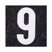 アトムサポート(アトムハウスペイント) 交通標識 フロアサイン 小ナンバー9 幅67×高116mm 4971544037097 1セット(20枚入)(直送品)