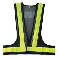 日本緑十字社 安全・反射ベスト LED 内蔵ベスト LEDベストーKY-Y 238094 1着(直送品)