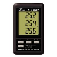 FUSO 温湿度計 SDカード対応型3チャンネル温度モニター MTM-380SD 1個 (直送品)