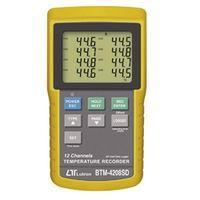 FUSO 温湿度計 12チャンネルSDカード付温度記録計 BTM-4208SD 1個 (直送品)
