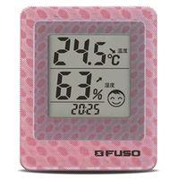 FUSO デジタル温湿度計 卓上デジタル温湿度・環境3Dモニタ(ピンク) BTH-300P 1個 (直送品)
