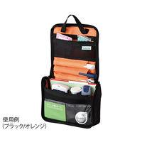 アズワン インスリンポーチ(血糖値管理用品ポーチ) ブラック/オレンジ BLK-01 1個 7-1270-01(直送品)