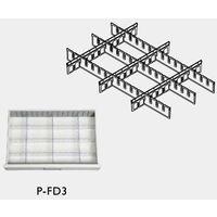 救急カート[LUXE]用 仕切板セット上段用 仕切板縦横×各3枚+ストリップ×2個 P-FD3 1式 8-1341-18 ナビスカタログ(直送品)