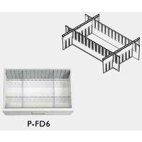 救急カート[LUXE]用 仕切板セット中段用 仕切板縦横×各2枚+ストリップ×2個 P-FD6 1式 8-1341-19 ナビスカタログ(直送品)