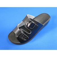 コンフィーウォーク ナースサンダル 2本ベルト スリッパタイプ レディスサンダル 黒 S 4E 1足 (直送品)