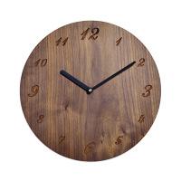 壁掛けクォーツ時計 ボードクロック ウォルナット 1個 ササキ工芸 (直送品)