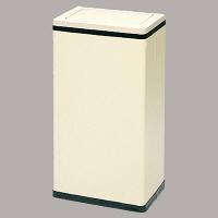 ぶんぶく 角型ロータリー屑入れ ゴミ箱 23.2L Bライン アイボリー/中缶付 1個 (直送品)