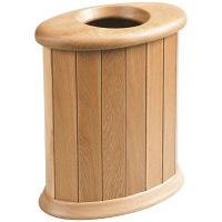天然木 くずかご ゴミ箱 楕円 S ナラ 1個 ササキ工芸 (直送品)
