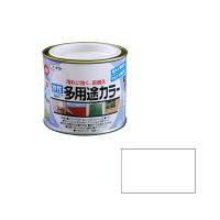 アサヒペン AP 水性多用途カラー 1/5L 白 as01 (直送品)