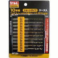 三共コーポレーション TRAD 10本組ショートコバルトドリル TCDS-2060 (直送品)