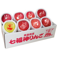 青森県産 赤い七福神りんごと縁起ものりんご 【予約販売】(直送品)【予約販売】
