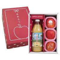 青森県産 メッセージりんごとアップルジュース (直送品)【予約販売】