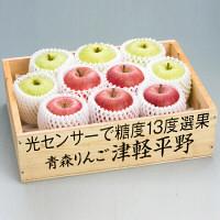 青森県産 りんご 糖度13度選果サンふじ(35番) (直送品)【予約販売】