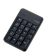 エレコム 無線(Bluetooth)対応 ワイヤレステンキーパッド ブラック TK-TBM016BK (直送品)
