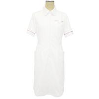 大真 裏地付き透けない白衣 ワンピース NS200 恋するピンク LL 医療白衣 1枚 (直送品)