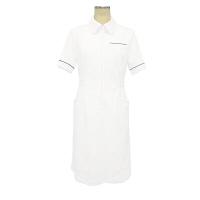 大真 裏地付き透けない白衣 ワンピース NS200 おしゃれブルー L 医療白衣 1枚 (直送品)
