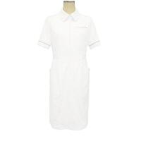 大真 裏地付き透けない白衣 ワンピース NS200 白銀(プラチナシルバー) M 医療白衣 1枚 (直送品)