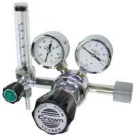 ユタカ 計測機器 ボンベ取付型流量計付一段式圧力調整器 ヘリウム用 FR-IS-P 1個 (直送品)