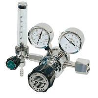 ユタカ 計測機器 ボンベ取付型流量計付ニ段式圧力調整器 窒素用 FR-IIS-P 1個 (直送品)