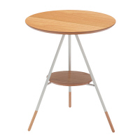 あずま工芸 Latte(ラテ) サイドテーブル ナチュラル オーク 幅415×奥行400×高さ500mm (直送品)