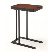 あずま工芸 Noel (ノエル) サイドテーブル ダークブラウン ウォルナット 幅500×奥行300×高さ600/700mm (直送品)