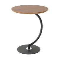 あずま工芸 Brass(ブラス) サイドテーブル ダークブラウン ウォルナット 幅460×奥行460×高さ555mm (直送品)