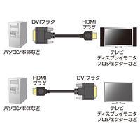 サンワサプライ HDMI-DVI-D変換ケーブル HDMI[オス]-DVI-D24ピン[オス] ブラック 1m KM-HD21-10 (直送品)