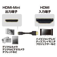 サンワサプライ HDMI-MiniHDMIケーブル HDMI[オス]-MiniHDMI[オス] ブラック 3m KM-HD22-30H (直送品)