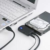 サンワサプライ変換ケーブルUSB3.0(TypeA)[オス]-シリアルATA[オス](HDD・SSD・ドライブ用)/ブラックUSB-CVIDE3 1個(直送品)