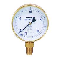 理研機器(RIKEN) 普通型圧力計 AS75-100M AS75-100M 1個 (直送品)