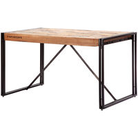 d-Bodhi(ディーボディ) FERUM(フェルム) インダストリアル ダイニングテーブル 幅1300×奥行800×高さ750mm 1台 (直送品)