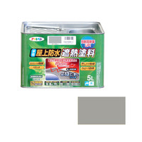 アサヒペン AP 水性屋上防水遮熱塗料 5L ライトグレー 900147 (直送品)
