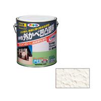 アサヒペン AP水性外かべ凹凸塗料ツヤあり 3L アイボリー 9010564 (直送品)