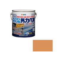 アサヒペン AP水性シリコンアクリル外かべ用 3KG ラフィネオレンジ 9010602 (直送品)