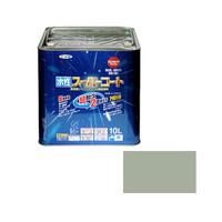 アサヒペン AP 水性スーパーコート 10L ソフトグレー 9011463 (直送品)