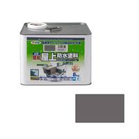 アサヒペン AP 水性簡易屋上防水塗料 8KG グレー 9016859 (直送品)