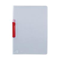 セキセイ クリップインファイル レッド SSS-105-20(20) 1箱(20冊入) (直送品)