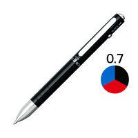 3色ボールペン ダブル3アクション 0.7mm ブラック軸 黒 ギフトケース入り BWBM-1000#1 プラチナ万年筆
