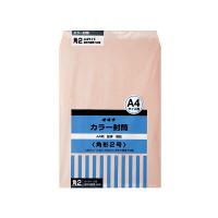 オキナ カラー封筒 角2 ピンク HPK2PK 1パック(50枚入) (直送品)