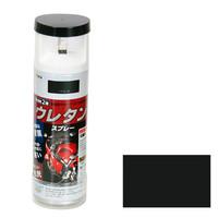 アサヒペン AP 2液ウレタンスプレー 300ML ツヤ消し黒 9010270 (直送品)